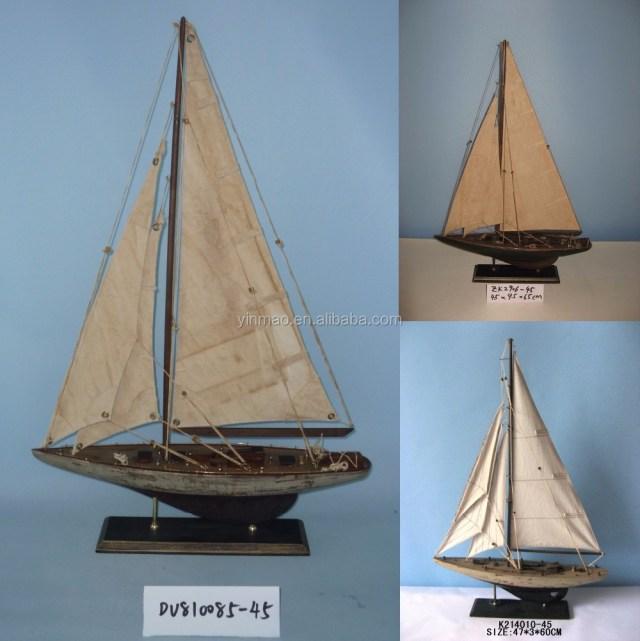 3 Takım Antika Eski Bitirmek Ahşap Yelkenli Tekne Modeli,45x9.5x62 ...