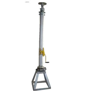 12m Manual Mechanical Telescopic Mast With Winch And