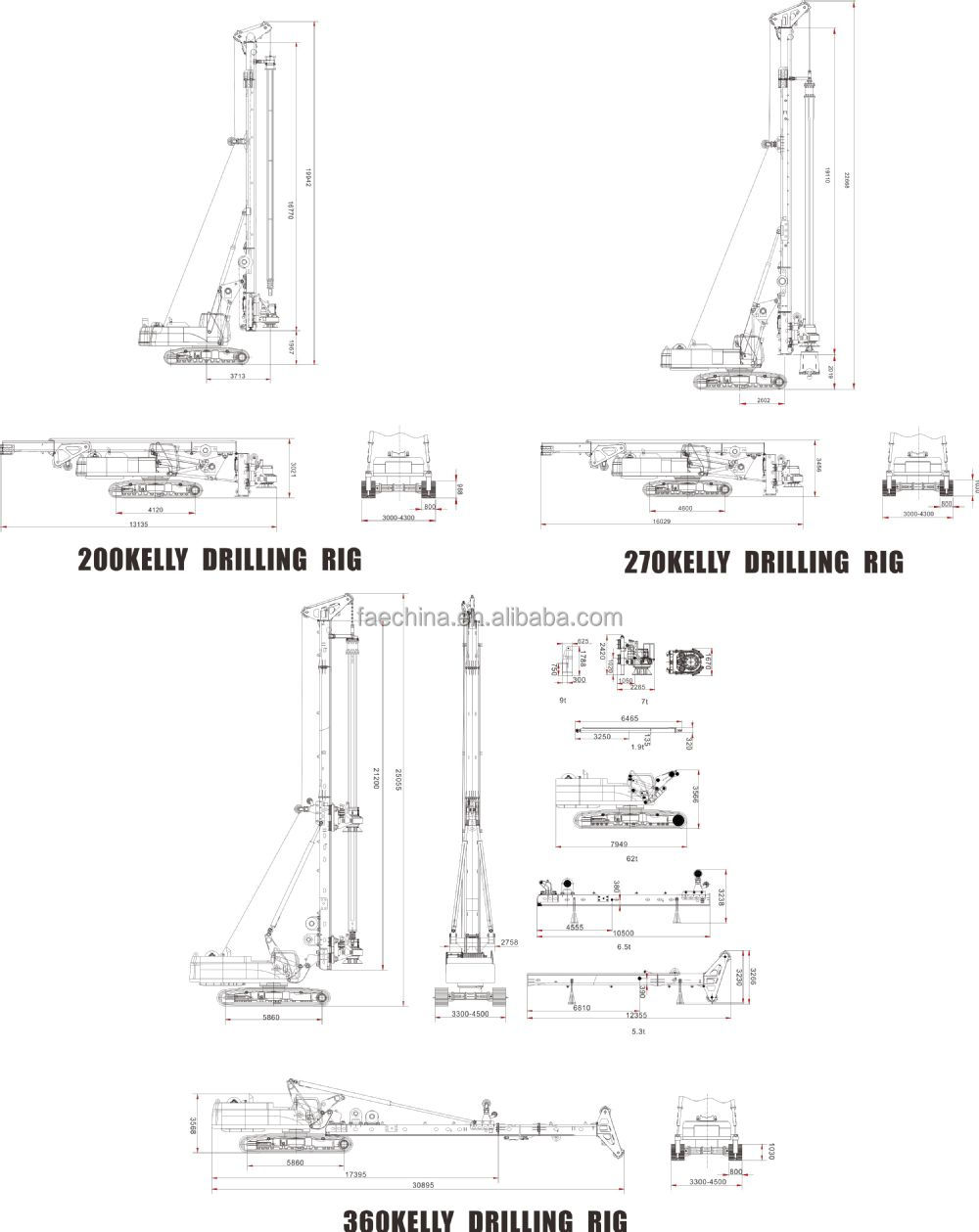 hight resolution of alibaba china fae manufacturer deep water well drilling rigs far30 with mud pump or air compressor
