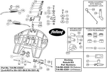 Rebuild Kits For Holland Xa-3501 Top Plate Assemblies
