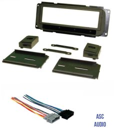get quotations asc audio car stereo dash kit and wire harness to install a single din radio for [ 1200 x 1473 Pixel ]