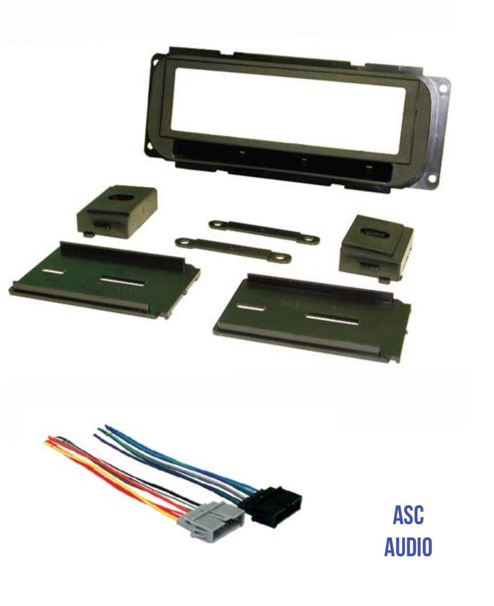 medium resolution of get quotations asc audio car stereo dash kit and wire harness to install a single din radio for