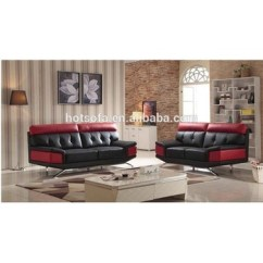 Black And Red Leather Sofa Mah Jong Price New Modern 3 2 1 Design For Living Room Furniture