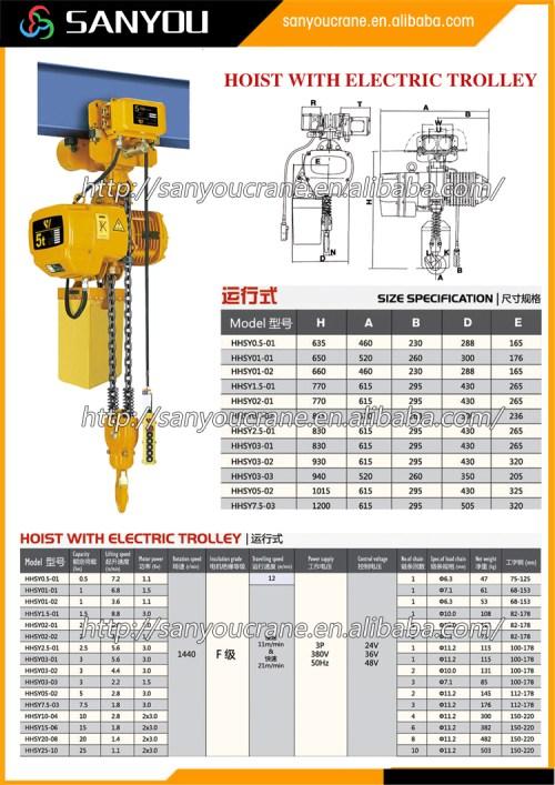 small resolution of 4 ton crane hook block lifting equipment 1 ton electric chain hoist