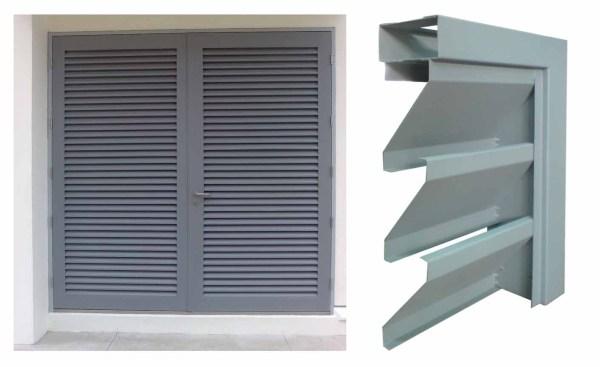 Hot Exterior Aluminum Window Shutters Louvers
