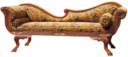 Antique Chaise Lounge Chair