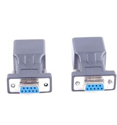 get quotations 2pcs db9 rs232 com female port to rj45 female connector card db9 serial port extender to [ 1500 x 1000 Pixel ]