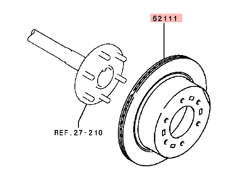Rear Brake Disc For Mitsubishi Pajero/montero Sport Kg4w