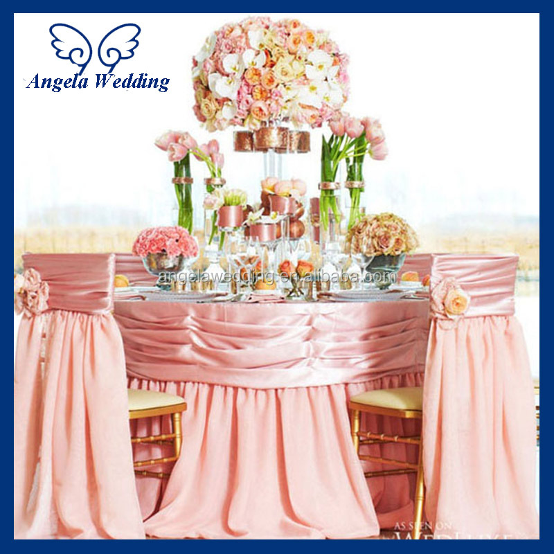 universal wedding chair covers upholstered living room chairs ch046c fancy chiffon flower embroidery sequin decorated ruffled round back banquet cover