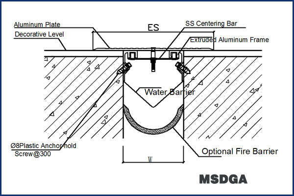 150-250mm Joint Width Universal Metallic Sidewalk