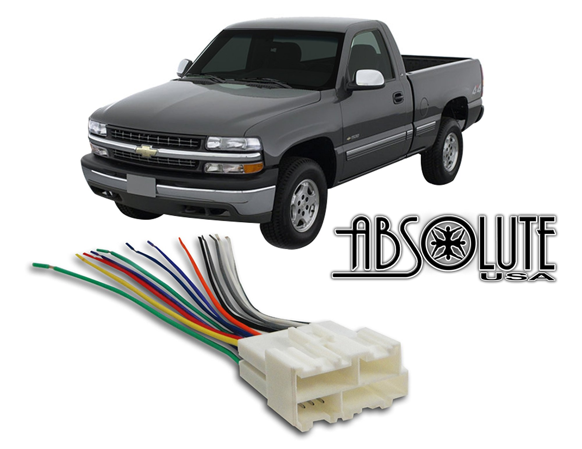 hight resolution of stereo wire harness chevrolet silverado pickup 99 00 01 02 1999 2000 2001 2002aftermarket radio
