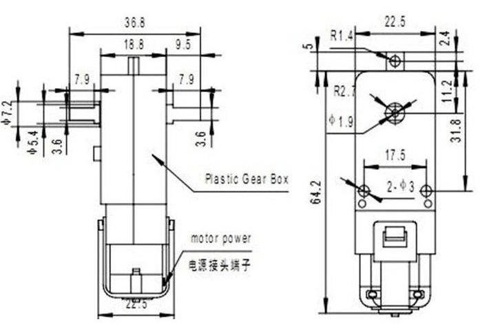 Robot Tracing Line Trolley Wheels Rubber Wheel Tires 3v-6v