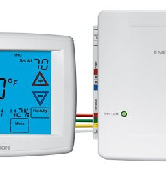 get quotations emerson 1f98ez 1441 emerson 4 wire easy install universal thermostat system [ 1500 x 706 Pixel ]