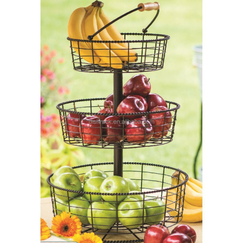 fruit basket for kitchen showrooms accessories 3 tier wire buy