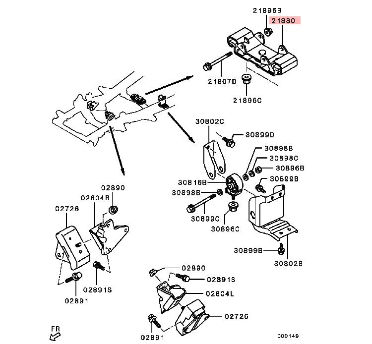 T/m Mounting Insulator For Mitsubishi Triton L200 Sport