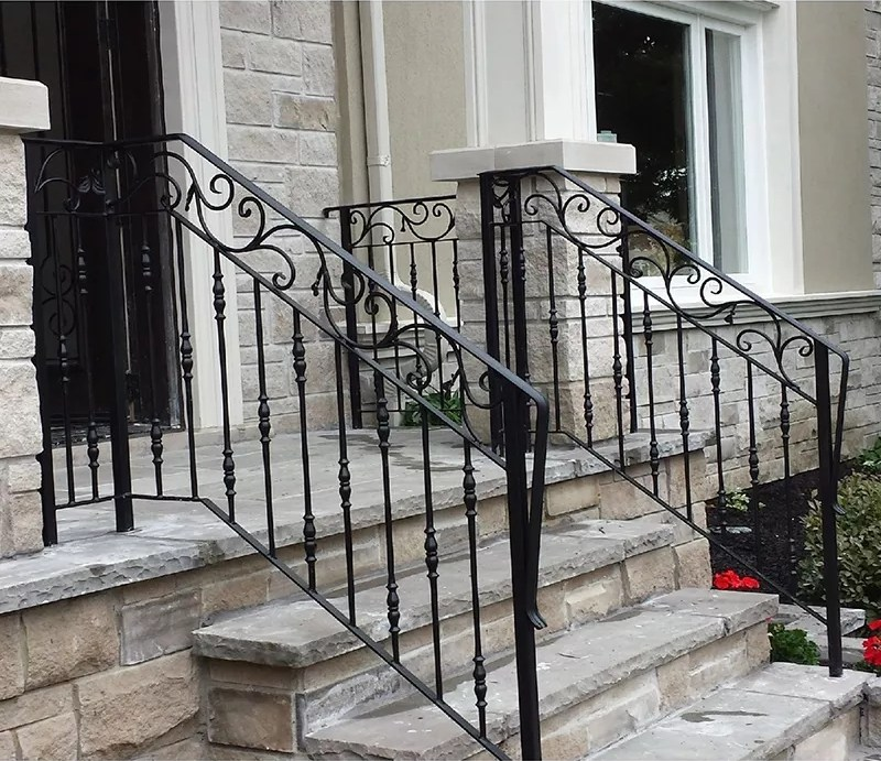 Top Selling Galvanized Outdoor Wrought Iron Stair Railing Buy | Wrought Iron Steps Outdoor | Wood Interior | Current | Iron Handrail | Staircase | Backyard