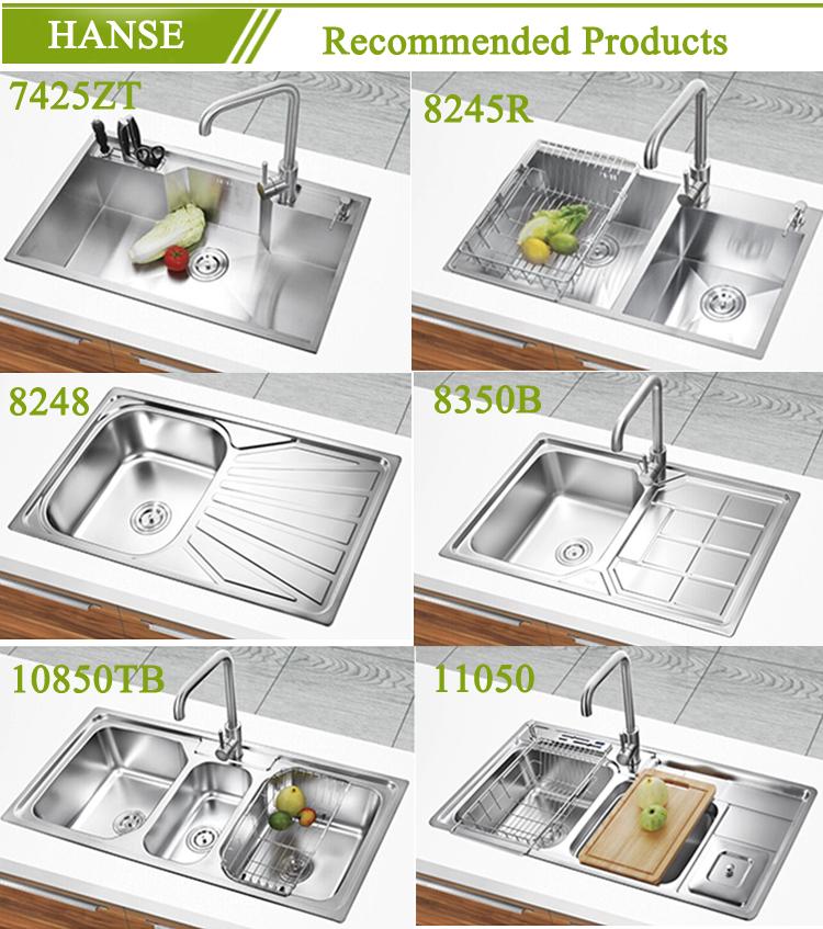 kitchen sinks with drain boards american standard sink k e7639b stainless steel board undermount tunisia