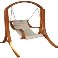 Swing Hammock Chair With Stand Steel Pipes Outdoor Heavy Duty Wood Armrest