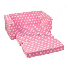 Sofa Bed For Child Modern Trundle Foam Lounger Folding Lightweight Kid Party With White Polka Dots