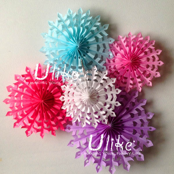 Large White Paper Flowers Hanging Tissue Paper Flowers
