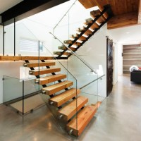 Commercial Metal Stairs Wood Treads/ Floating Stair ...