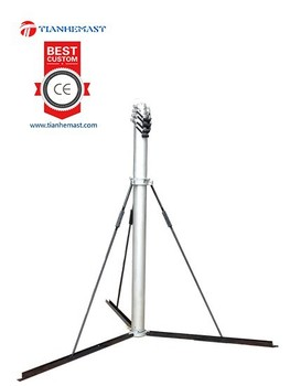 10m Aerial Camera Tower Telecomunication Antenna Manual