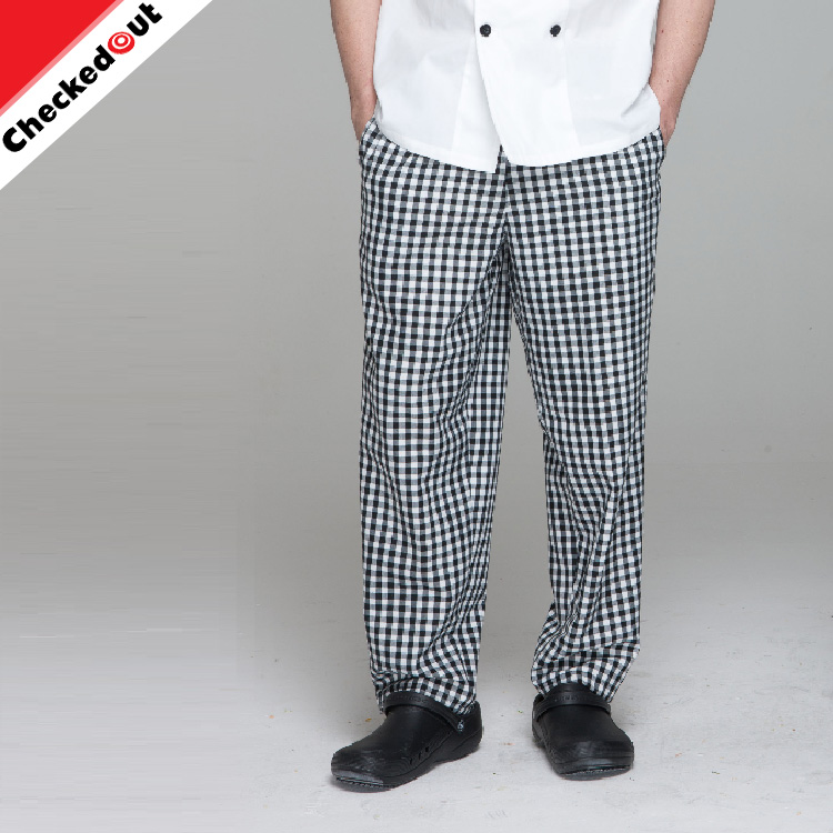 kitchen pants remodel my wholesale high quality black and grey check chef waiter trousers modern workwear buy