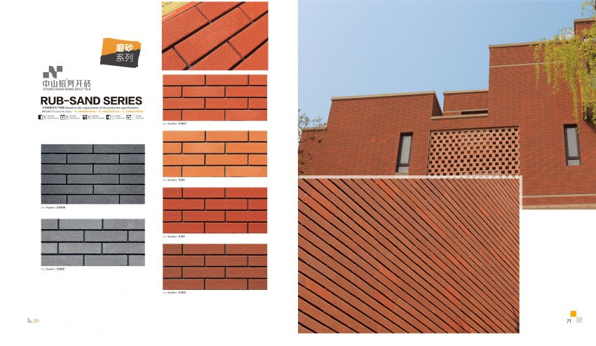 Outdoor Wall Cladding Clay Clinker Brick TileRed Clay