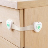 Baby Proofing Adjustable Cabinet Locks Plastic Latch/ Door ...