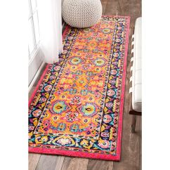 Pink Kitchen Rug Nyc Soup Kitchens Cheap Find Deals On Line At Get Quotations 2 5 X 8 Vibrant Floral Persian Multi Color Runner Orange