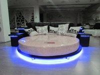 CY006 silver round beds round bed on sale modern round bed