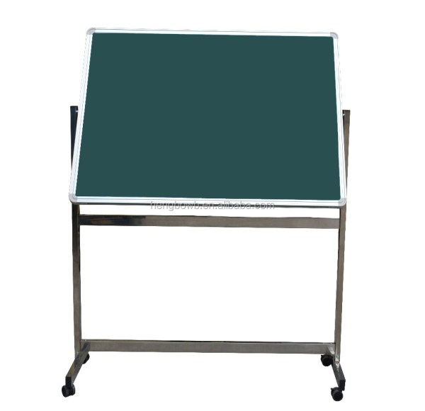 Moveable Whiteboard Chalkboard With Stand Flip