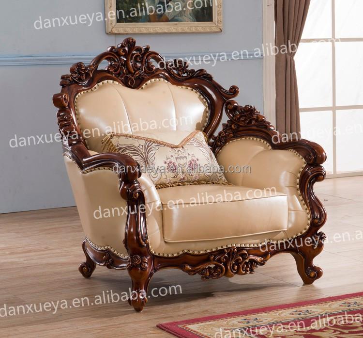 design of wood sofa set blue suede danxueya baroque furniture wooden designs pictures