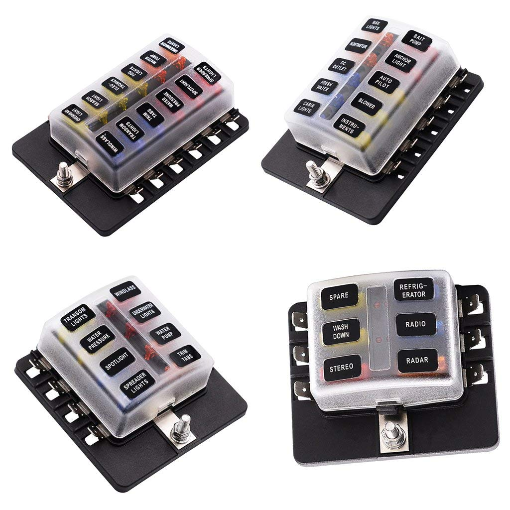 hight resolution of get quotations magideal 6 8 10 12 way circuit standard ato atc blade fuse box block holder pcb