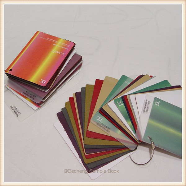 Kinds of coloful fabric cutting memo sample View cutting
