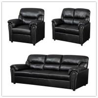 Indoor Furniture Light Yellow Air Leather Sofa Set - Buy ...