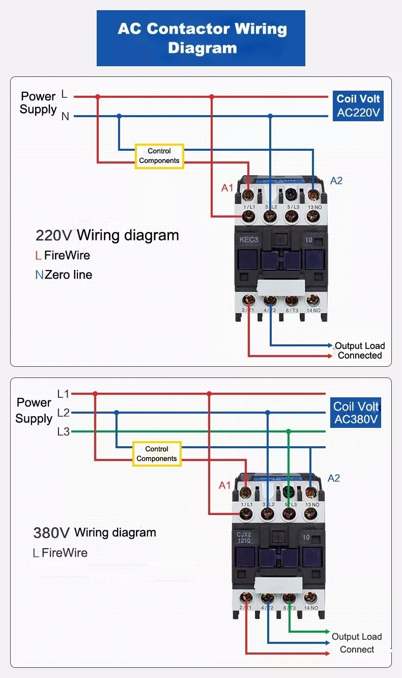 medium resolution of electrical contactor ac type lc1d09 ac contactor 220v single phase contactor