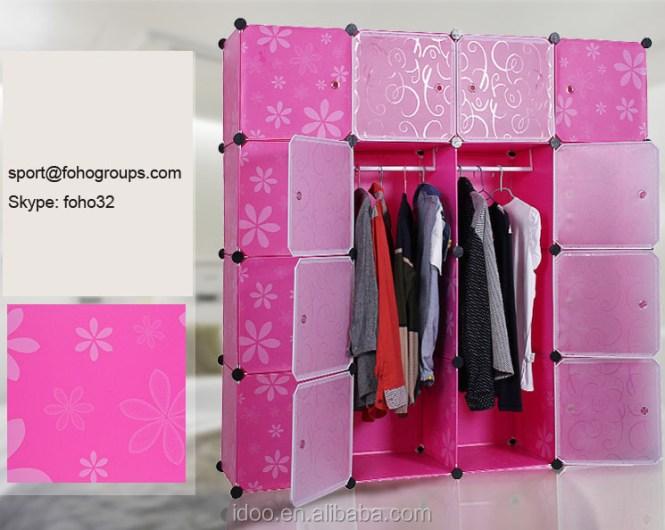 Diy Plastic 16 Cubes Portable Wardrobes Online Designs For Bedroom Fh Al0050