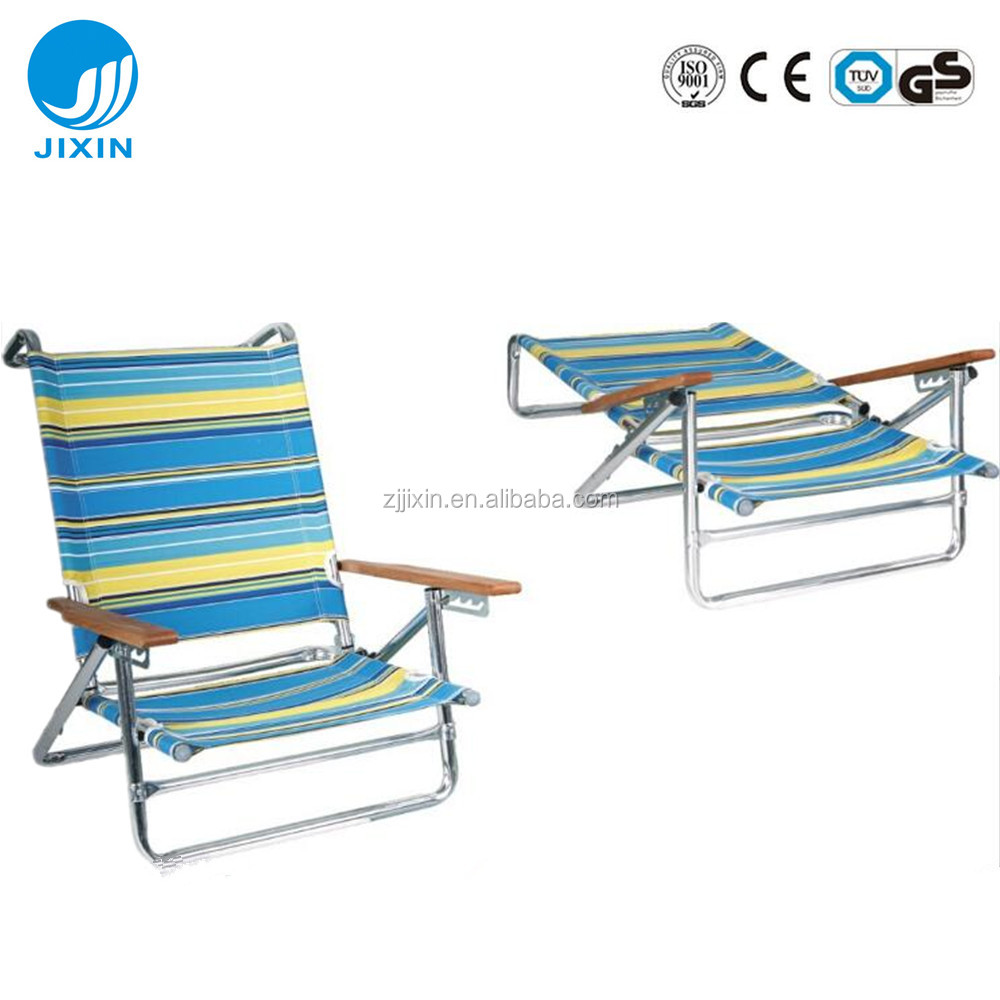 Low Folding Beach Chair Factory Direct Outdoor Aluminium Folding Low Seat Beach Lounge Chair With Wood Handle Buy Aluminum Beach Lounge Chair Folding Beach Chair Beach