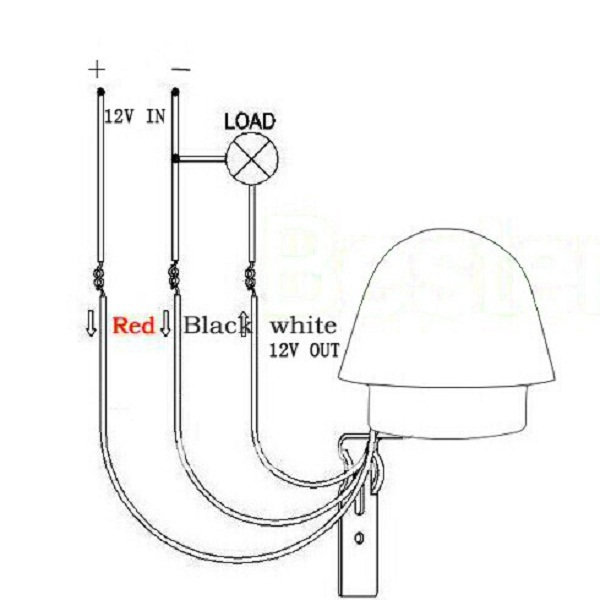 12v photocell wire diagram
