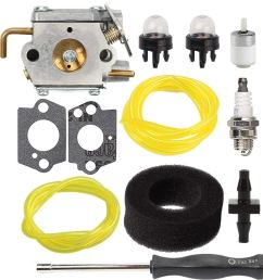 get quotations savior carburetor wt 827 1 with air filter fuel line screwdriver for troy  [ 1000 x 1000 Pixel ]