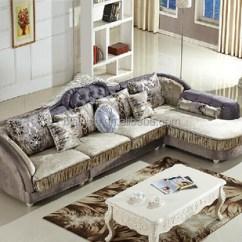 Corner Living Room Table High End Rooms Cloth Sofa Set Wood Frame Post Modern Sectional