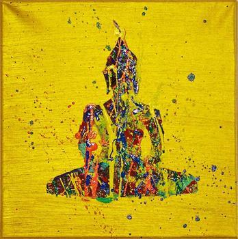 handmade abstract acrylic buddha