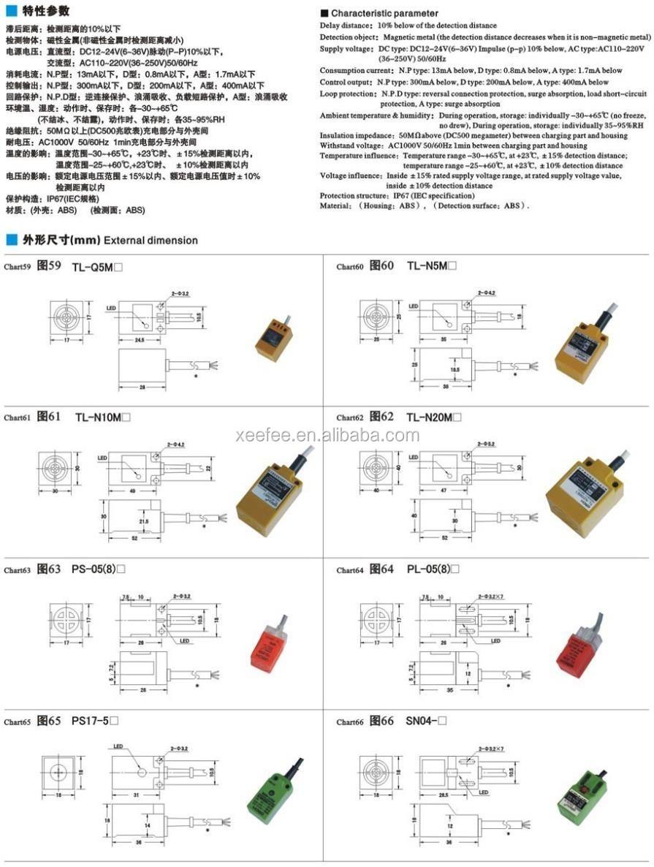 Sn04-p 5mm Inductive Switch Proximity Sensor W Led