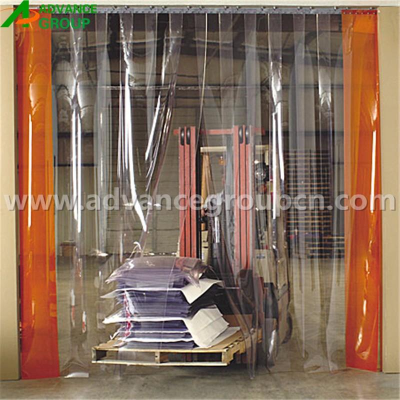 rideau en plastique transparent panneau