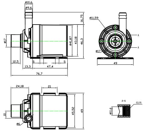 Portable small electric 12 volt high pressure high volume