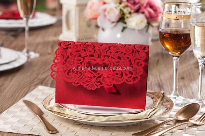 Elegant India Whole Handmade Paper Crafts European Wedding Invitation Card Embossed Designs Cw5016