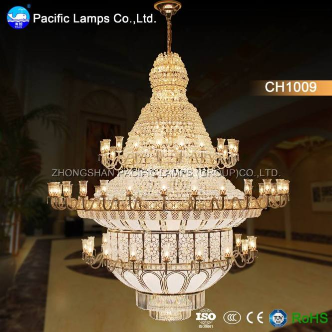 Zhongshan Large Hotel Chandelier For High Ceilings