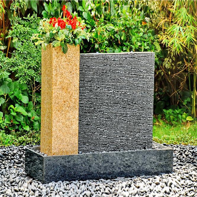 modern garden stone water