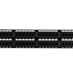 get quotations monoprice cat5 enhanced patch panel 110type 48 port 568a b compatible  [ 1200 x 900 Pixel ]